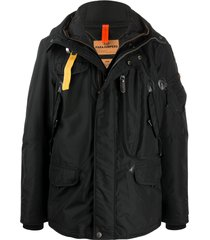 parajumpers hooded padded jacket - black
