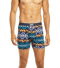 saxx ultra relaxed fit boxer briefs, size small in navy desperado at nordstrom