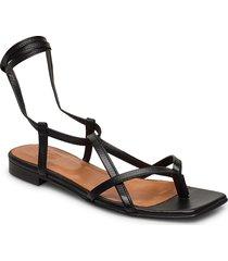 sandals 14102 shoes summer shoes flat sandals svart billi bi