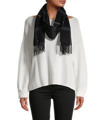 checker cashmere scarf