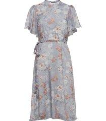 viparisa s/s midi dress/dc knälång klänning blå vila