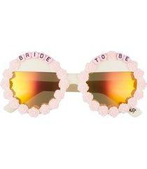 women's rad + refined bride to be round sunglasses -