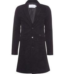 casaco masculino lã mista - preto