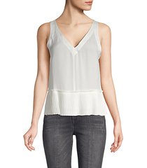 pleated silk tank top