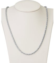 "certified diamond all-around 17"" tennis necklace (6 ct. t.w.) in 14k white gold"