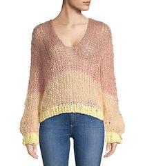stripe mohair blend sweater