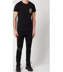 balmain men's badge t-shirt - black - l