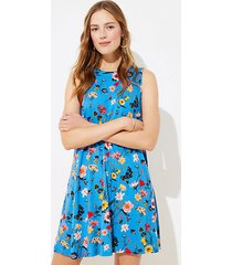 loft lily tie back swing dress