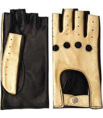 manokhi fingerless short gloves - gold