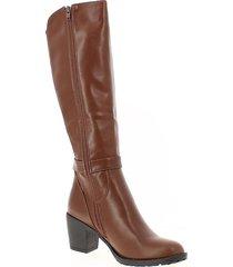 botas caña alta para mujer  via spring via spring - marrón