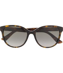 gucci eyewear gg0703sk soft-round sunglasses - brown