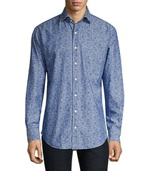 crown floral chambray shirt