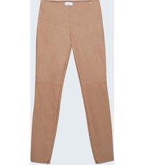motivi pantaloni skinny in similpelle donna beige