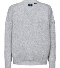 isabella slouch vee stickad tröja grå superdry