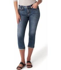 silver jeans co. trendy plus size elyse mid-rise capri jeans