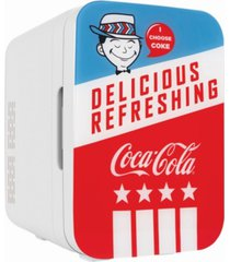 cooluli coca-cola americana-10l compact thermoelectric cooler and warmer mini fridge