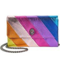 women's kurt geiger london stripe leather chain wallet -