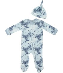 baby boys tie dye 2-piece coverall set