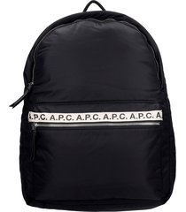 a.p.c. dos repeat backpack in black polyamide