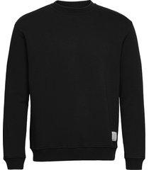 mufti mitu crew sweat-shirt trui zwart woodbird