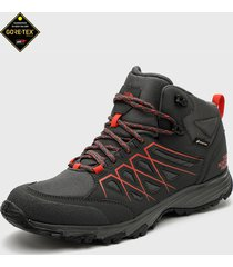 zapatilla m venture fasthike mid wp gris the north face