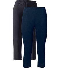 leggings capri elasticizzati (pacco da 2) (blu) - bpc bonprix collection