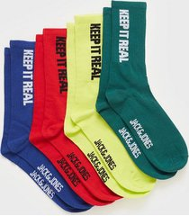 jack & jones jacstatement sock 4 pack strumpor mörk grön