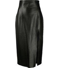 16arlington side slit skirt - black