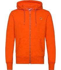 collective zip hood hoodie trui oranje superdry