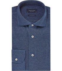 profuomo knitted overhemd indigo blauw