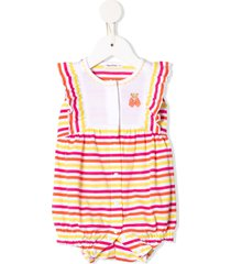 familiar striped-print ruffled romper - mx