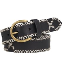 frye women's 30mm embroidered leather belt