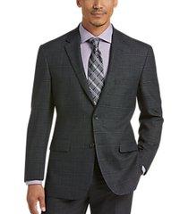 pronto uomo platinum modern fit sport coat charcoal plaid