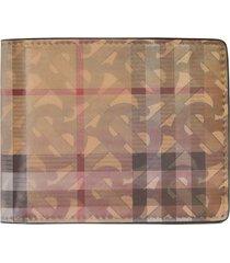 burberry 3d print bifold wallet - neutrals