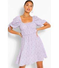 paisley print peasany skater dress, lilac
