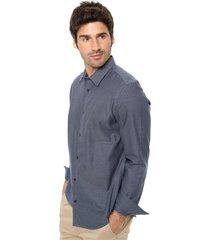 camisa azul calvin klein infinite cool yd wde dbby strp