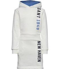d1. gant color hoodie dress hoodie trui wit gant