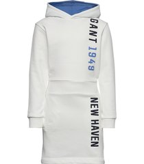 d1. gant color hoodie dress jurk wit gant