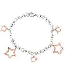 bracciale stella in acciaio bicolore per donna