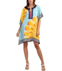 trina turk theodora abstract print silk dress