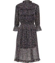 stupendo abito in chiffon con belle arricciature e volant. (nero) - bodyflirt
