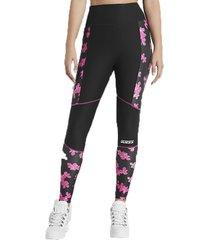 pantalon cherry blossom leggings print negro guess