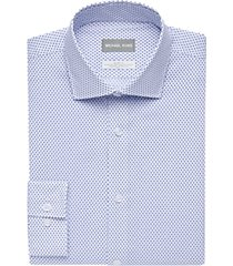 michael kors blue print slim fit stretch dress shirt