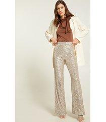 motivi pantaloni in paillettes donna silver