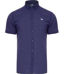 camisa masculina fashion brand - azul