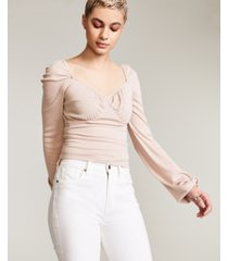 bar iii blouson ruched top, created for macy's