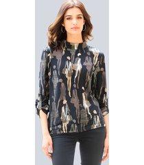 blouse alba moda kaki::camel