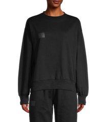 noize women's crewneck cotton-blend sweatshirt - rio red - size m