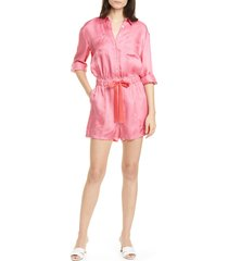 women's cinq a sept giles satin twill romper, size x-large - pink