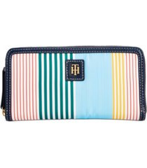 tommy hilfiger julia striped nylon zip wallet, created for macy's